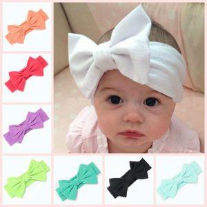 Детские хлопчатобумажные волосы пояса 16 цветов Европейский и американский большой галстук-бабочку детские эластичные оголовье младенца Hairbands 16pieces много