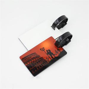 mdf tag bagagli in legno per sublimazione con foro stampa a trasferimento cardiaco vuoto consumabili rettangolari per cartellini bagagli DX-005