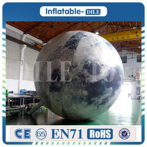 Kostenloser Versand von Tür zu Tür LED-Beleuchtung Inflatable Mond Inflatable Mondsichel Bühne dekorative Parteidekoration Aufblasbarer Mond