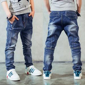 Erkek kot pantolon, Çocuk giyim erkek kot pantolon ilkbahar ve sonbahar sıçrama-mürekkep çocuk pantolonu 3 4 5 6 7 8 9 10 11 12 13 14 yaşında