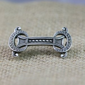 Langhong 10pcs Norse Viking Fibula Brooches Legendary Vikings Amulet Sweden Fibula Set Brooches Viking brosch jewelry