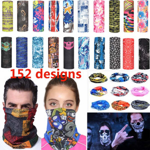 Magic Cycling Scarf Mask Outdoor Headscarf Sport Ski Snowboard Wind Cap Cycling Balaclavas Turban Motorcycle Face Masks Party Masks HH7-1351