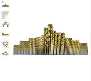 1.5-10 ملليمتر 99 قطعة / المجموعة عالية الصلب التيتانيوم المغلفة تويست حفر الحفر الأحرار بت النجارة أداة الخشب اللاسلكي مفك