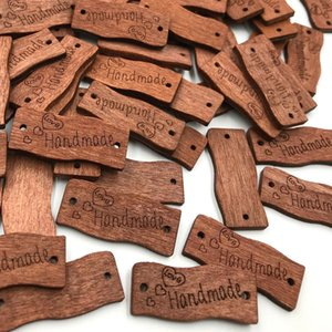 Mix 30mm Handmade Wood boutons Applique DIY Craft couture 300pcs / set