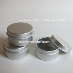 30 X 20g Empty Mini Metal Aluminum Cream Jar Pot Tins Containers 20cc Travel Cosmetic Packaging