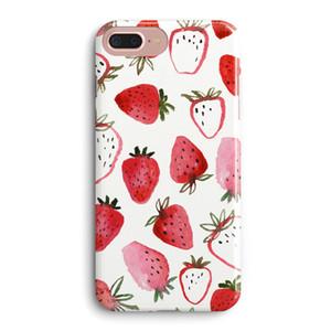 쾌적한 신선한 딸기 과일 스타일 대리석 패턴 소프트 전화 케이스 다시 커버 애플 아이폰 6 6S 7 8 플러스 X