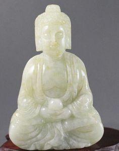 Atacado Barato Chinês jade mão-esculpida a estátua de buda, delicado Pingente de Jóias