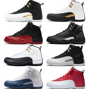 12 12S мужские ботинки баскетбола Мичиган Быки колледжа ВМС Vachetta Tan Dark Gray Bordeaux Wool Flu Game мужчин Sports кроссовки тренеров