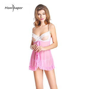 Лето Sexy шелк пижамы домашняя одежда для женщин короткие женщины пижамы кружева топ халаты Sexy Onesie костюмы sexy кружева ночь Y18102206