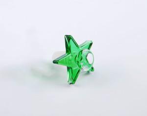 Renkli 14.4mm 18.8mm erkek cam tütün sigara kase Kalın heady Mekanik dişli Pentagram tütün için bongs kase su bongs boru