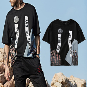 Fashion Streetwear Designer T-shirt Burst Trend Cotton Originale Hip-Hop Tee Allentato Mens Top per l'estate Casual