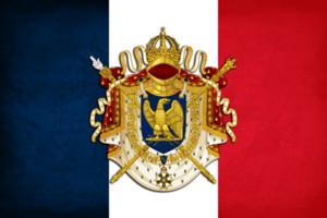Fransa Ilk Fransız İmparatorluğu Grunge Bayrağı Afiş 150 CM * 90 CM 3 * 5FT Polyester Özel Banner Spor Bayrak