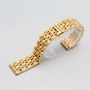 Stainless steel metal Watch Strap bracelet 14mm 16mm 18mm 20mm 22mm for luxury watch straight end men hour