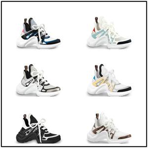 18ss Basket Archlight Turnschuhe Chaussures Argent Silber Archlight Weiß Monogramm Lace Logo Flachen Trainer Sneaker Größe 35-46