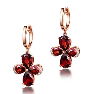 New Hot Korean Simple Clover Pendant Earrings Female Wedding Party Fashion Temperament Sweet Romantic  Jewelry