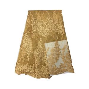 Yüksek kaliteli mor renk için nijeryalı fransız dantel afrika dantel kumaş parti dress.5yards / lot Ücretsiz kargo