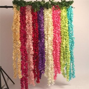 New Arrive 11 color Artificial silk Flowers Home wall Garden Hotel Wedding Decoration Wisteria vine rattan DIY IB736