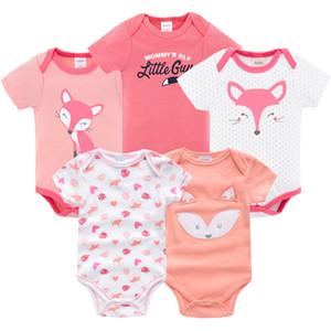 Ropa de verano para bebé niño niña 5 PCS / lote trajes de cuerpo para bebé traje de niño ropa mono recién nacido 0 3 6 9 meses disfraz