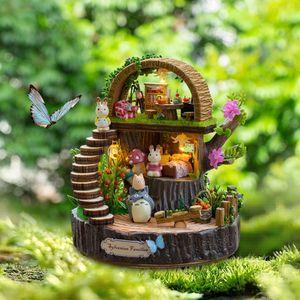 Muebles de casa de muñecas Bricolaje Miniaturas 3D de madera Modelo de casa de muñecas Kits de construcción Juguetes para regalos de cumpleaños Fantasy Forest Box