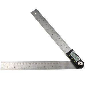 200mm Dijital İletki İnklinometre Gonyometresi Seviye Ölçüm Aracı Elektronik Açı Ölçer Paslanmaz Çelik Açı Cetvel