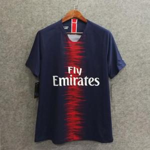 ^ _ ^ 18/19 PSG jugador de fútbol jersey versión slim fit conocido de encargo número Mbappé 7 Cavani 9 camisetas de primera calidad
