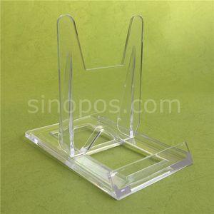Clear Sliding Display Cavalletti 100x60mm, piedistallo regolabile in plastica trasparente per esposizione artistica, porta CD in ceramica per CD DVD