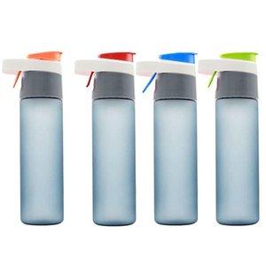 430ml 600ml Portable Sports de plein air bouteille été espace tasse grande bouteille d'eau en plastique Spray Spray activités en plein air et à l'intérieur