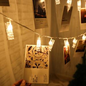 LED Garland Kart Fotoğraf Klip Led Dize Peri Işıklar Pil Işletilen Noel Garlands Düğün Sevgililer Dekorasyon