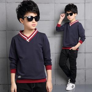 Children's Clothing Child Male Child Spring and Autumn 2017 Basic Shirt Child Men's Sportswear Clothing Sweatshirt