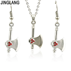 JINGLANG FGifter Beautiful Tool Pendant Necklace Earrings Jewelry Sets for Women Girls Stainless Steel Jewelry Wholesale