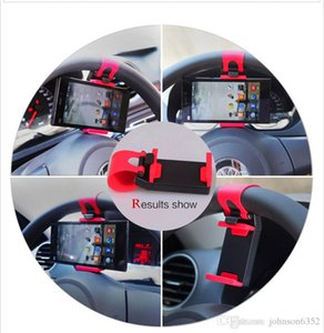 Car Steering Wheel phone clip Holder universal cell phone Clip Mount car Holder for Mobile iphone samsung Cell Phone GPS
