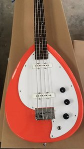 Оптовая 2017 Новое прибытие VOX электрическая бас-гитара 4 строки высокое качество в лосося цвет розовый 170920