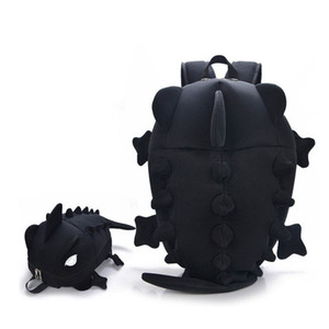 Tasarımcı Bukalemun Çocuk Sırt Çantaları Gençler için Dinozor canavar sırt çantası Karikatür Hayvan Omuz Okul Çantası Kız Erkek Için