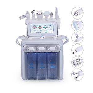 Корея 6 в 1 машине дермабразии воды для подмолаживания кожи с маком двигателя кислорода скруббера кожи ультразвука РФ охлаждая гидро лицевым
