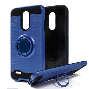 For LG Aristo 2 X210 LV5 2018 LV3 LV5 K20 Plus ZTE Avid 4 MetroPCS Hybrid Armor Case 360 Degree Rotating Car Phone Holder Magnetic Cover