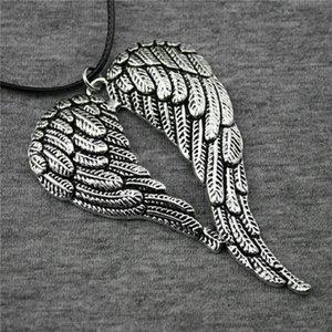 Мужские подвески кусочки кожаные колье цепи N6-B12303 большой воротник Wysiwyg ожерелье модные ожерелья 5 двойных 68x46mm крылья xbmwg