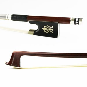 Free Shipping New 4 4 Size Pernambuco Violin Bow Fast response Good elasticity Natural Hair Ebony Frog Violin Accessories