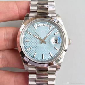 Top venda clássico 2813 movimento automático 40 MM gelo azul safira disc relógio dos homens 228206 Data 316L pulseira de aço Inoxidável relógio de pulso
