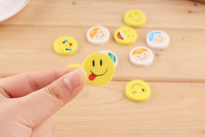 Facial expression eraser smiling face and color cartoon circle
