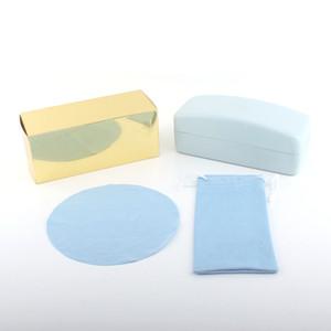 파란색 화살표 안경 케이스 럭셔리 가죽 케이스 브랜드 상자 케이스 선글라스 용 안경 보호 안경 액세서리 무료 배송