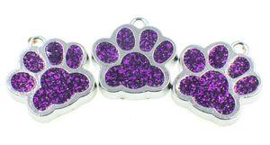 En gros 50pcs / lot chien bling / ours imprimé patte pendent charmes pendentif propres à jewelrys mode collier porte-clés diy