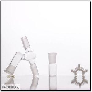 Fabricante: Adaptador macho en ángulo de 14 mm / 19 mm Completo para reciclaje de aceite configurado para bong de vidrio de tubería de agua conjunta de 45 grados