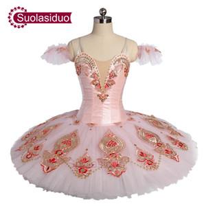 Новое Прибытие Взрослый Розовый Классический Балетная Пачка Фея Блин Сценические Костюмы Женщины Балетный Танец Аппераль Девушки Балетная Юбка