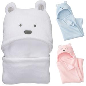 아기 산호 벨벳 곰 신생아 보류 퀼트 귀여운 담요 아기 트롤리 침낭 여행 활동 아기의 침낭 3 색 많이 0-3T