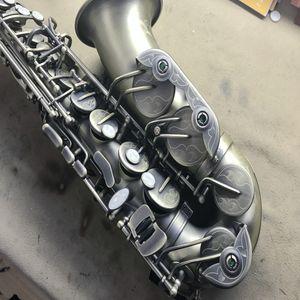 2018 Retro-rame di alta qualità Splendidamente scolpito Alto Saxophone Drop Shipping