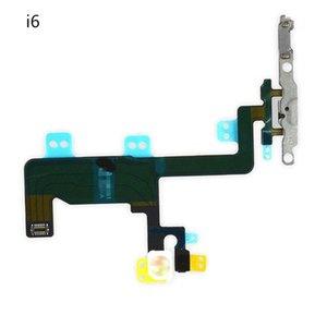Interruptor Botão de Alimentação Controle de Volume Flash Light Mic Mudo Conector Flex Cable para iPhone 6 6 plus com Suporte