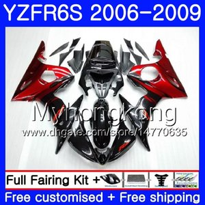 Cuerpo para YAMAHA Fábrica de llamas rojas YZF R6 S R 6S YZF600 YZFR6S 06 07 08 09 231HM.4 YZF-600 YZF R6S YZF-R6S 2006 2007 2008 2009 Fairings Kit