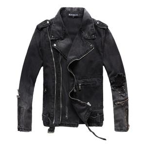 Balmain Mens куртки Мода Мужчины Женщины джинсовой куртки вскользь Hip Hop Стилист Jacket Мужская одежда Размер M-4XL