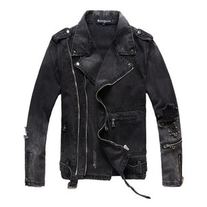 Balmain Mens Jackets Homens Mulheres Moda Denim Jacket Casual Hip Hop Stylist Jacket Mens Clothing Tamanho M-4XL