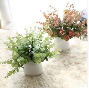 نباتات اصطناعية محاكاة الزخرفية أوراق الكينا من الجدول الديكور الكافور زينة عالية الجودة زهرة